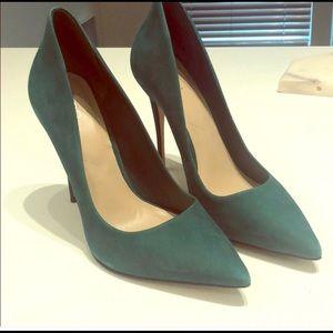 Aldo suede emerald green heels